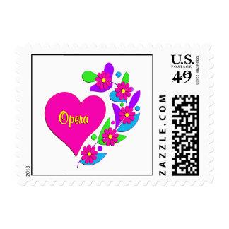 Opera Heart Postage Stamp