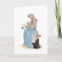 Opera Hippo and Pig Card
