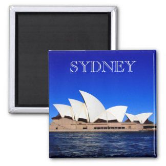 opera house blue 2 inch square magnet