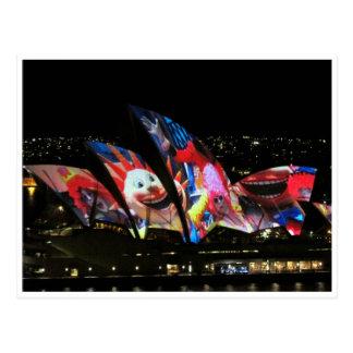 opera house fun postcard