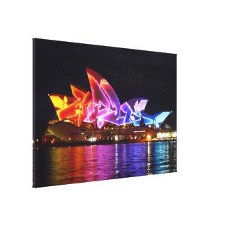 opera house sydney electric canvas print