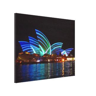 opera house sydney striped canvas print