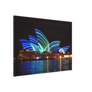 opera house vivid lights canvas print