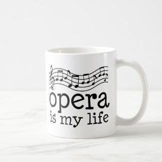 Opera Is My Life Classic White Coffee Mug