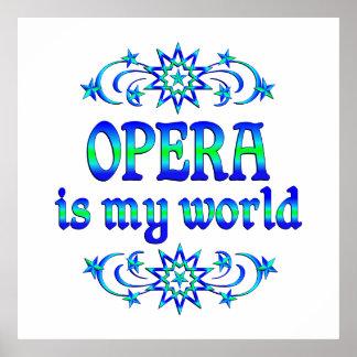 Opera is my World Poster