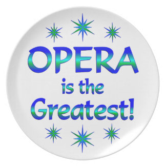Opera is the Greatest Dinner Plates