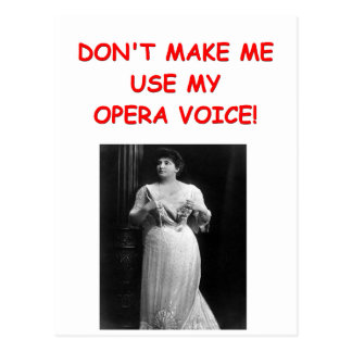 opera joke postcard