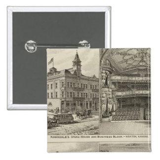 Ópera, Kansas Pin Cuadrada 5 Cm