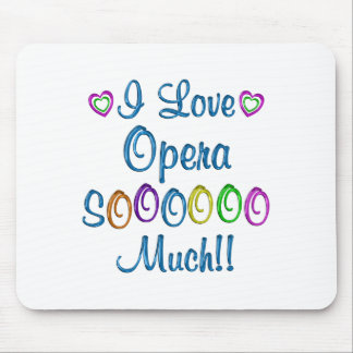 Opera Love So Much Mouse Pad