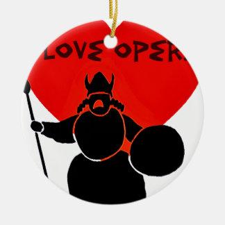 Opera Lover_ Ceramic Ornament