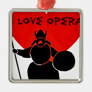 Opera Lover_ Metal Ornament