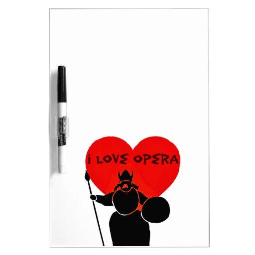 Ópera Lover_ Pizarras Blancas De Calidad