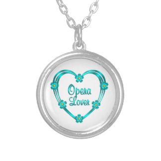 Opera Lover Round Pendant Necklace