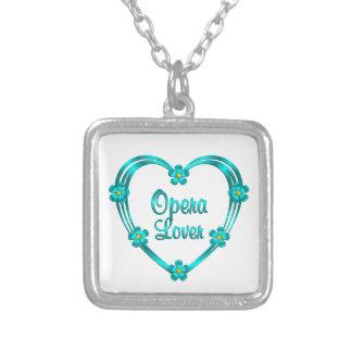 Opera Lover Square Pendant Necklace