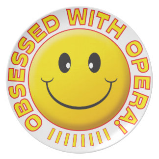 Opera Obsessed Smile Party Plate