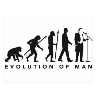 Opera of singer evolution OF one Postcard