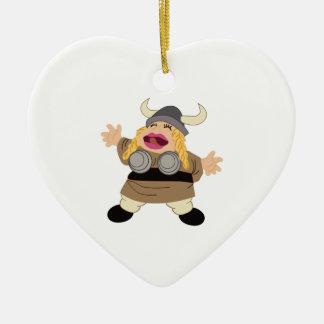 Opera Double-Sided Heart Ceramic Christmas Ornament