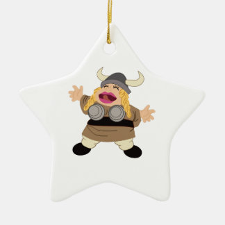 Opera Double-Sided Star Ceramic Christmas Ornament