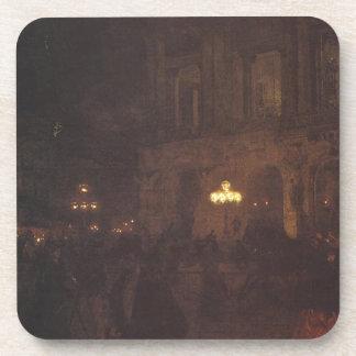 Opera paryska w nocy by Aleksander Gierymski Beverage Coaster
