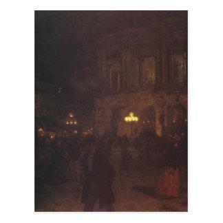 Opera paryska w nocy by Aleksander Gierymski Postcard