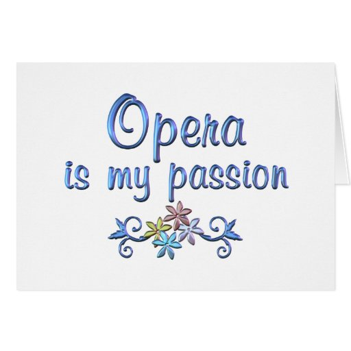 Opera Passion Greeting Card