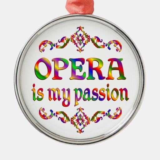 Opera Passion Round Metal Christmas Ornament