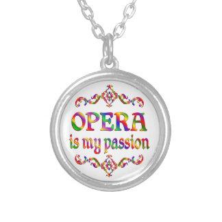 Opera Passion Round Pendant Necklace