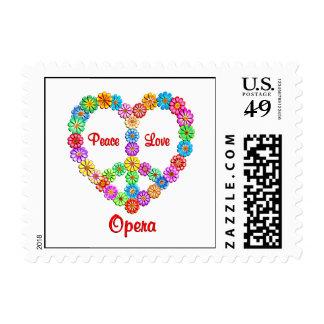 Opera Peace Love Postage Stamp