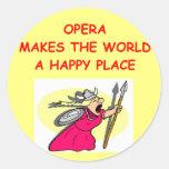 ópera pegatina redonda