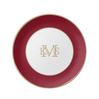 Opera Red-Ruby Crimson Red-French Chateau Wedding Plate