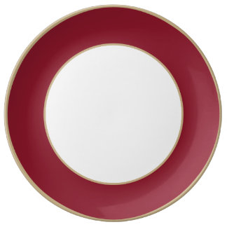 Opera Red-Ruby Crimson Red-French Chateau Wedding Porcelain Plate
