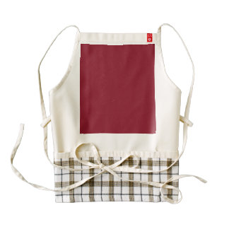 Opera Red-Ruby Crimson Red-French Chateau Wedding Zazzle HEART Apron