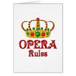 OPERA RULES CARD