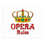 OPERA RULES POST CARDS