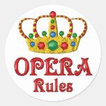 OPERA RULES ROUND STICKER