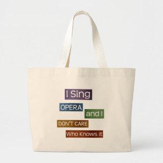 Opera Singer Canvas Bags
