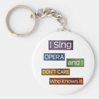 Opera Singer Basic Round Button Keychain