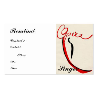 Opera singer Business Card