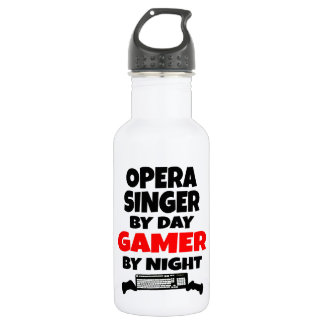 Opera Singer by Day Gamer by Night Stainless Steel Water Bottle