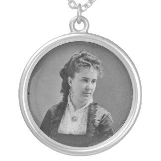 Opera Singer Clara Louise Kellogg by Mathew Brady Round Pendant Necklace