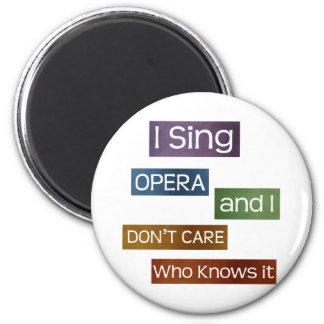 Opera Singer Refrigerator Magnet