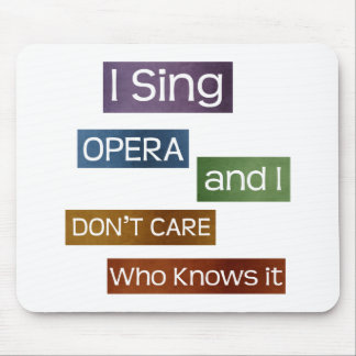 Opera Singer Mouse Pad