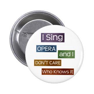 Opera Singer Pinback Button