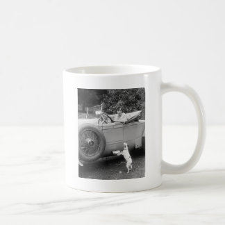 Opera Singer with her Dog, 1920s Coffee Mug