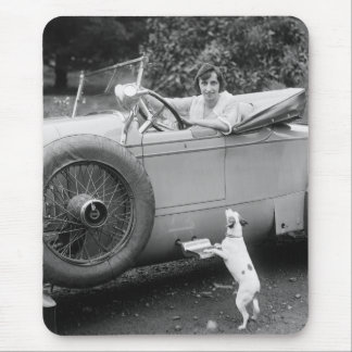 Opera Singer with her Dog, 1920s Mouse Pad