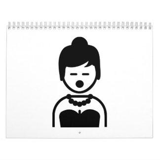 Opera singer woman wall calendar