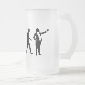 Opera singers and opera lovers singing gifts frosted glass beer mug