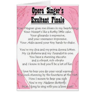 Opera Singer's Exultant Finale card