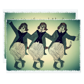 Opera Singing Beagles Card