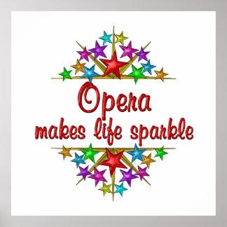 Opera Sparkles Poster